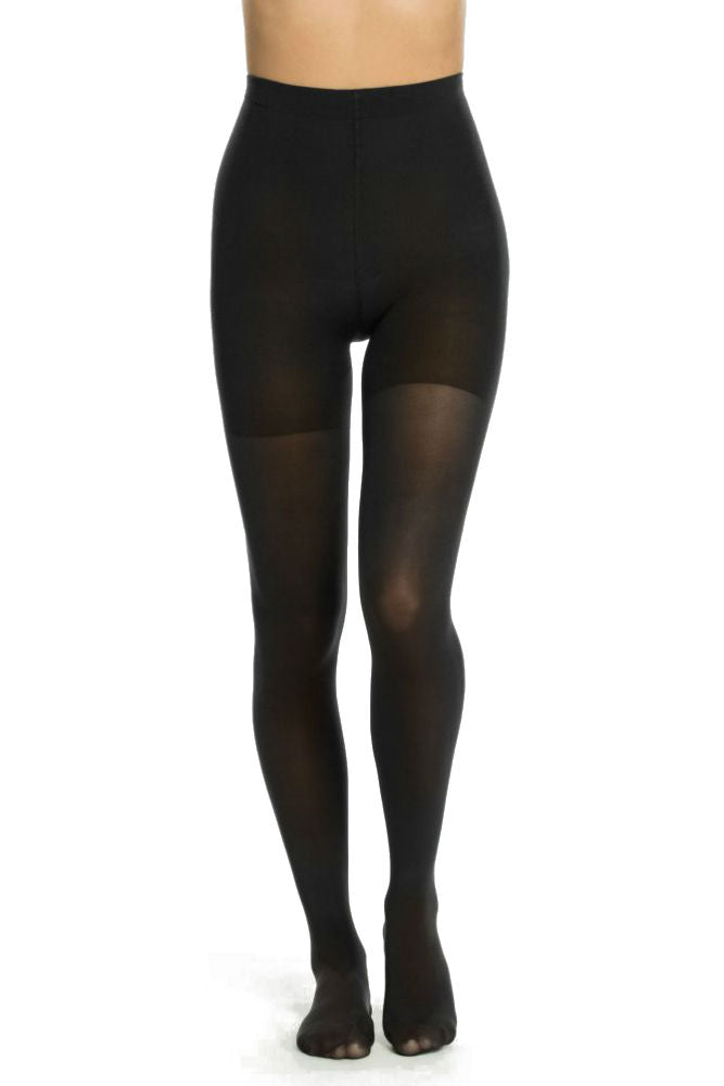 SPANX Luxe Leg Mid-thigh Shaping Tights Very Black