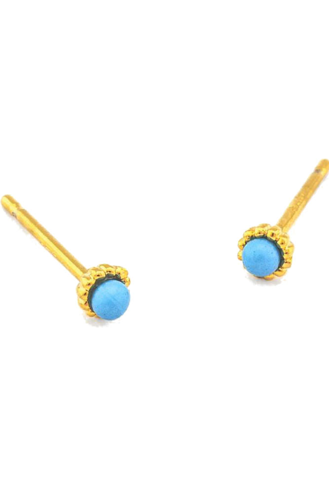 TAI Mini Gold Trim Post Earring
