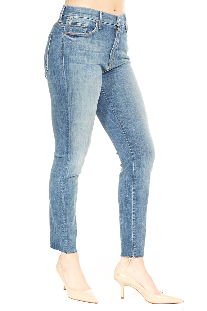 Mother High Waisted Looker Ankle Fray in Not Rough Enough