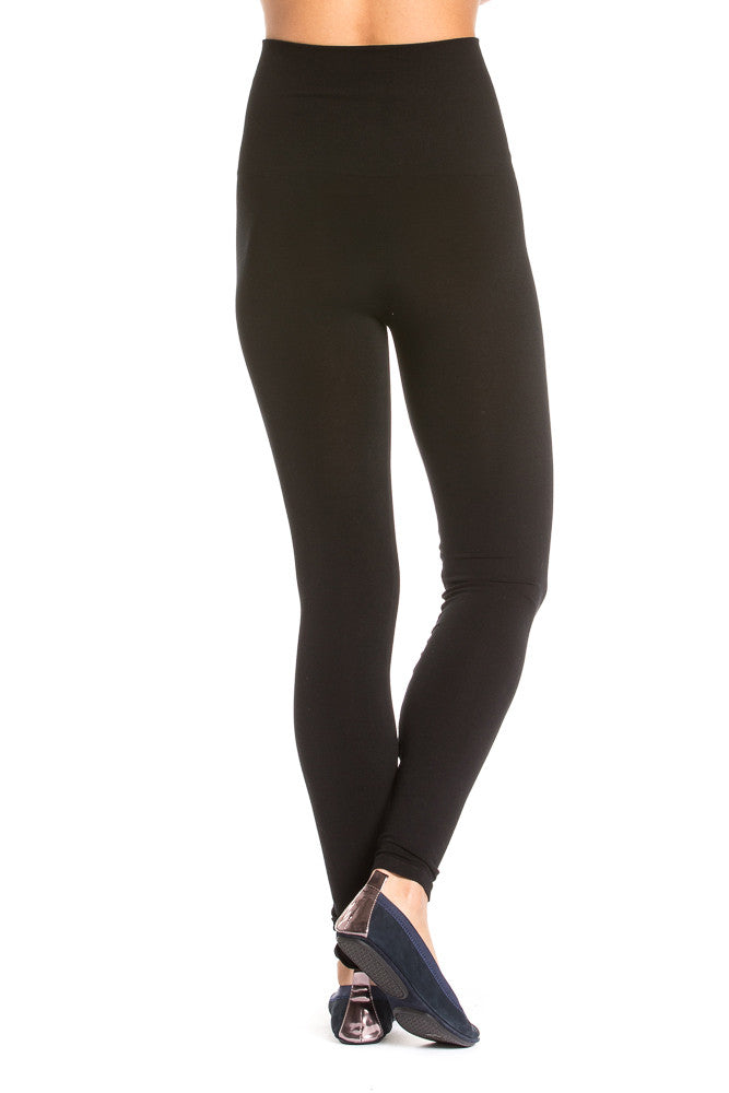 M. Rena High Waist Ankle Leggings in Black