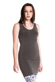 M. Rena Sleeveless Rayon Dress in Dark Grey