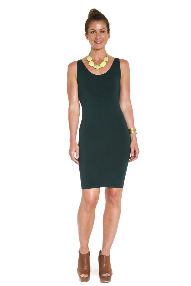 M. Rena Sleeveless Rayon Dress in Seaweed