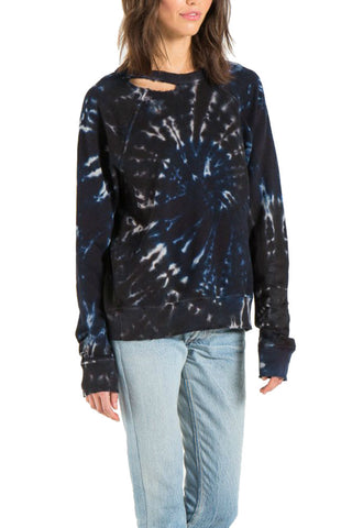 Michael Stars Printed Foil S/S V-Neck w/Center Back Seam in Nymph