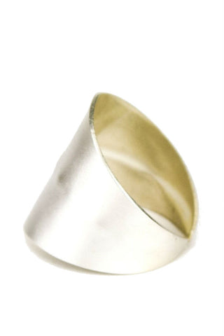 Betsy & Iya Simple Sterling Silver Faceted Ring, Size 7