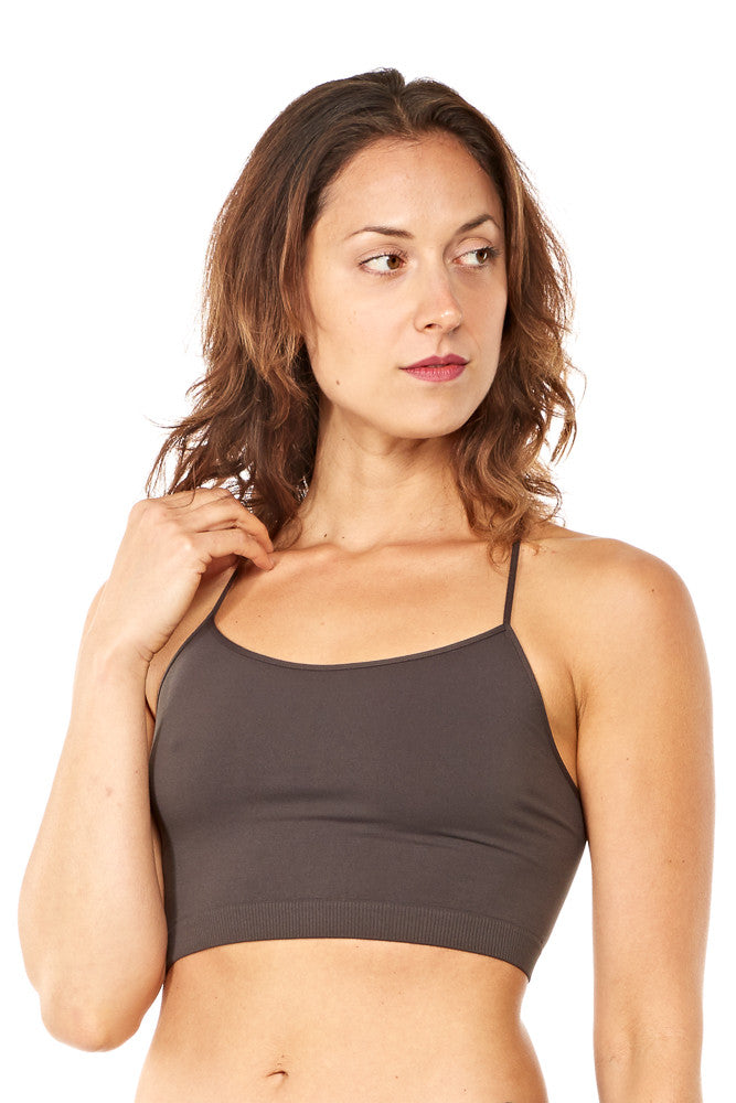 Niki Biki Y-Back Bralette in Charcoal