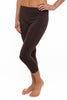 Niki Biki Capri Legging in Dark Brown
