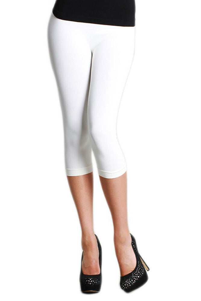 Niki Biki Capri Legging in White