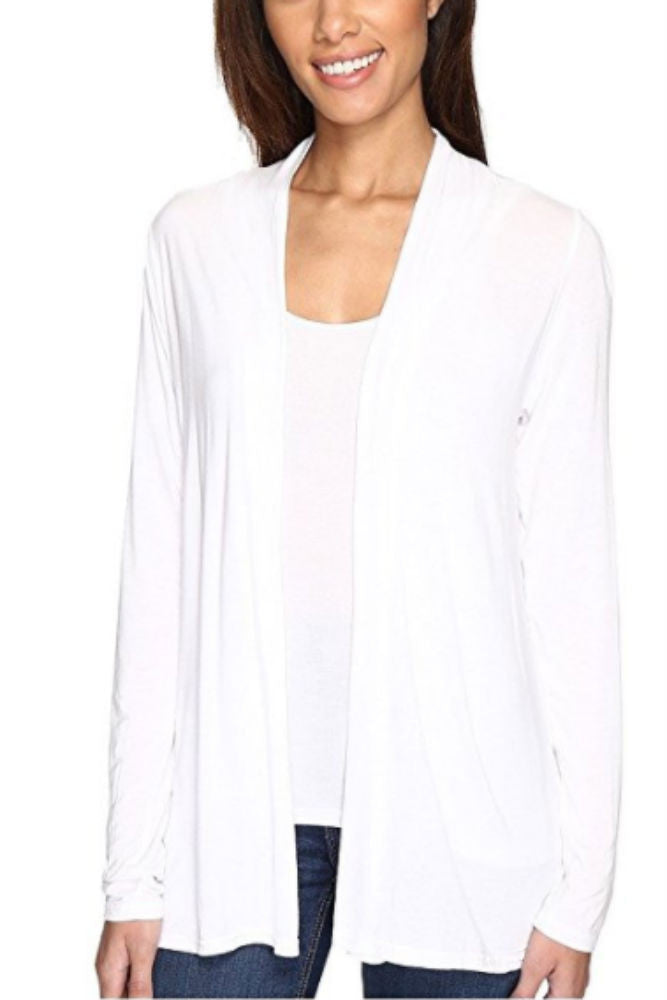 Michael Stars Open Cardigan in White