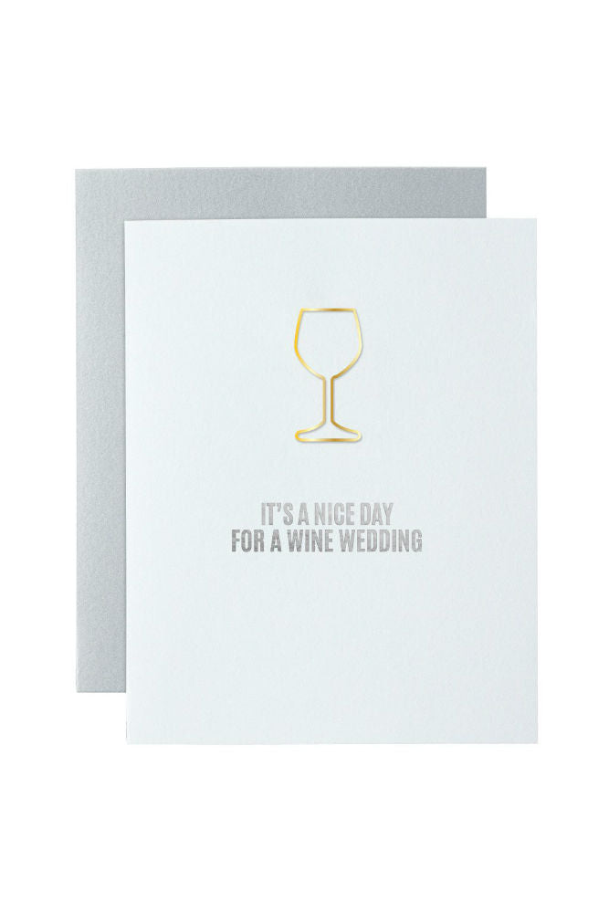 CHEZ GAGNE' Letterpress Card w/Paper Clip Wedding