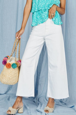 HOLIDAY Wide Leg Pleated Pant