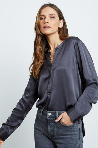 NYLAND Balloon Sleeve Pleated Top