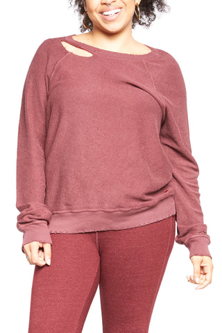 360 Sweater Danielle Pullover in Rose Quartz