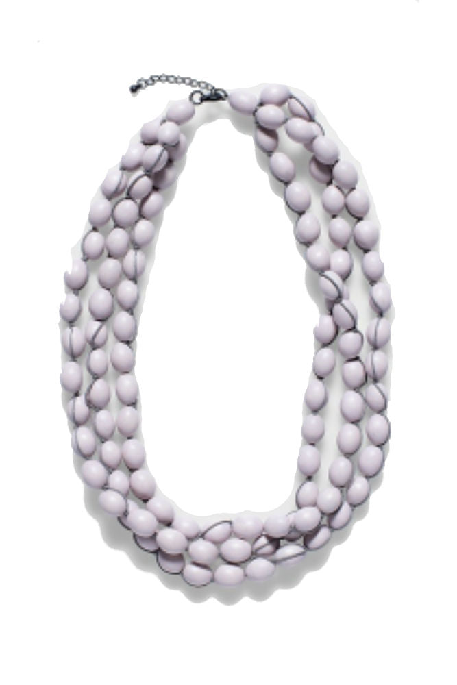 Elk Pip Short Necklace in Creole Pink/Grey