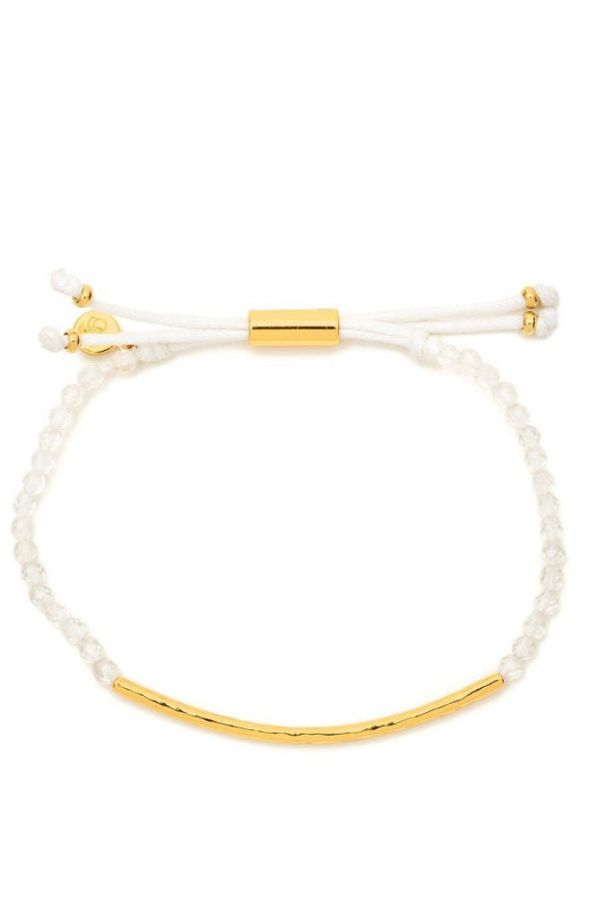 Gorjana Power Gemstone Bracelet in Clarity Gold