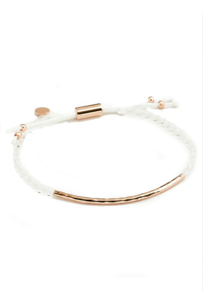 Gorjana Power Gemstone Bracelet in Clarity Rose Gold
