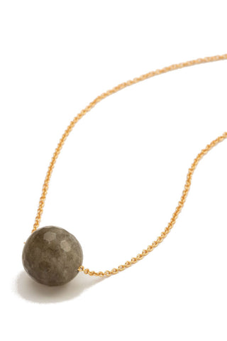 Gorjana Power Gemstone Beaded Necklace in Pyrite/Silver