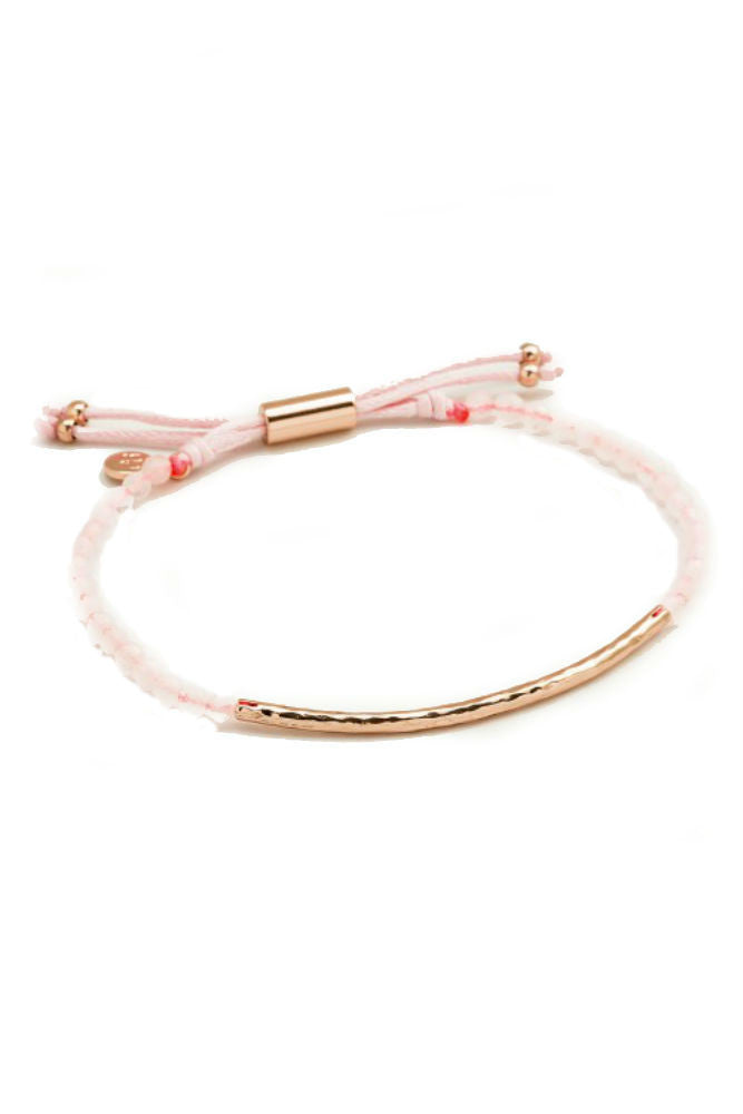 Gorjana Power Gemstone Bracelet in Love Rose Gold