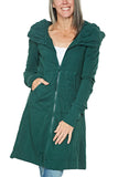 Prairie Underground Long Cloak Hoodie in Bottle Green