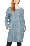 Prairie Underground New Deal Dress in Blue Check
