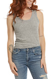 PROJECT SOCIAL T Bare With Me Tank in Light Heather Grey