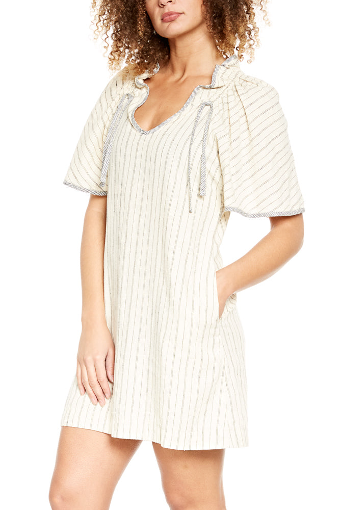 Prairie Underground Confetti Dress in Natural Stripe