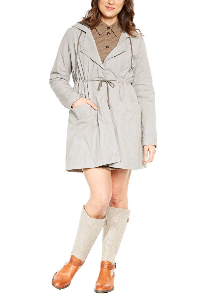 Prairie Underground Crosswalk Raincoat in Mini Check