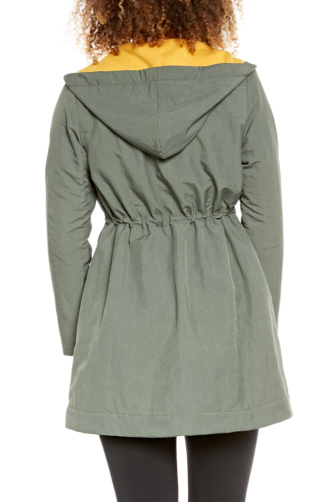 Prairie Underground Crosswalk Raincoat in New Gray