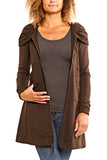 Prairie Underground Long Cloak Hoodie in Brown Out