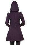 Prairie Underground Long Cloak Hoodie in Ink Pot