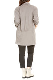 Prairie Underground Moth Coat in Gray Ray