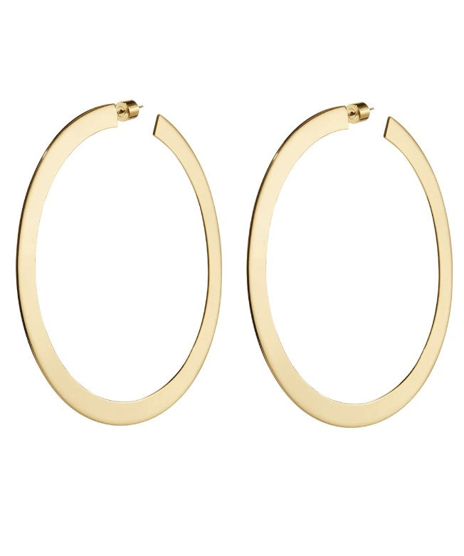 Jenny Bird Large Quinn Hoops Gold