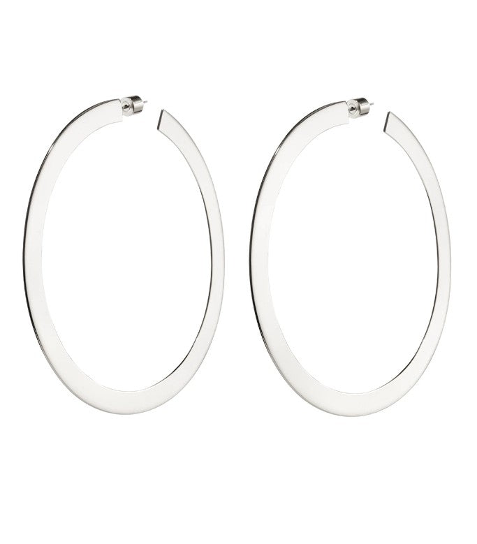 Jenny Bird Large Quinn Hoops Silver