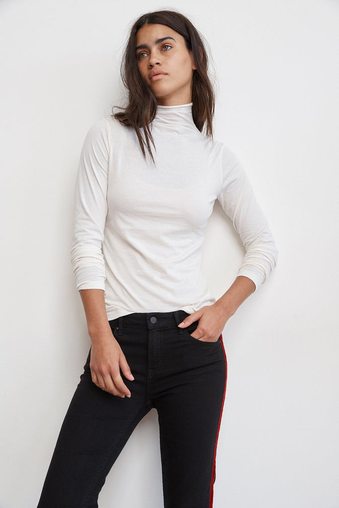 Velvet by Graham & Spencer Talisia Mock Neck Tee