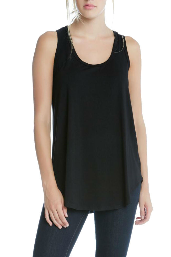 Fifteen Twenty Racerback Tank in Black
