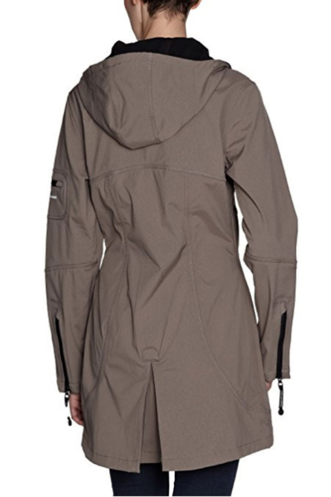 Ilse Jacobsen Hip-Length Softshell Raincoat 07 in Dark Ash