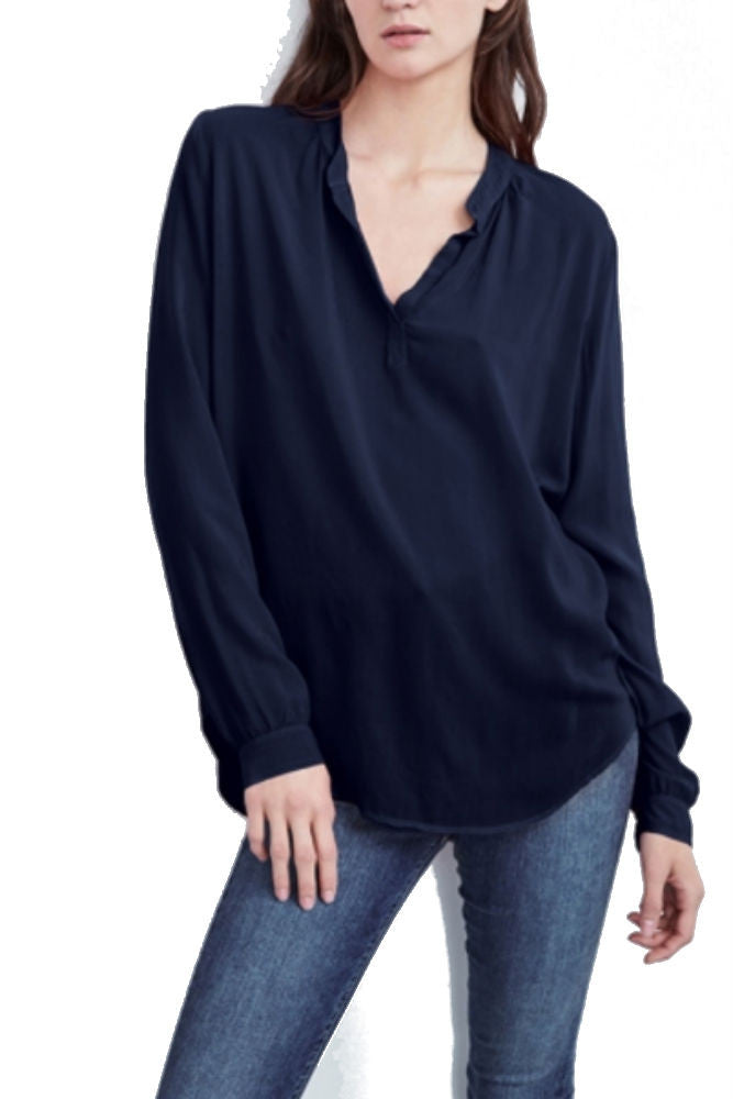 Velvet by Graham & Spencer Rosie Half Placket Blouse in Postman