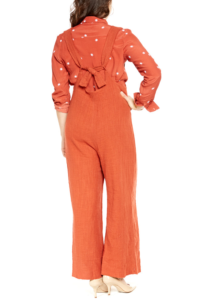 Rue Stiic Eddie Jumpsuit in Red Rust