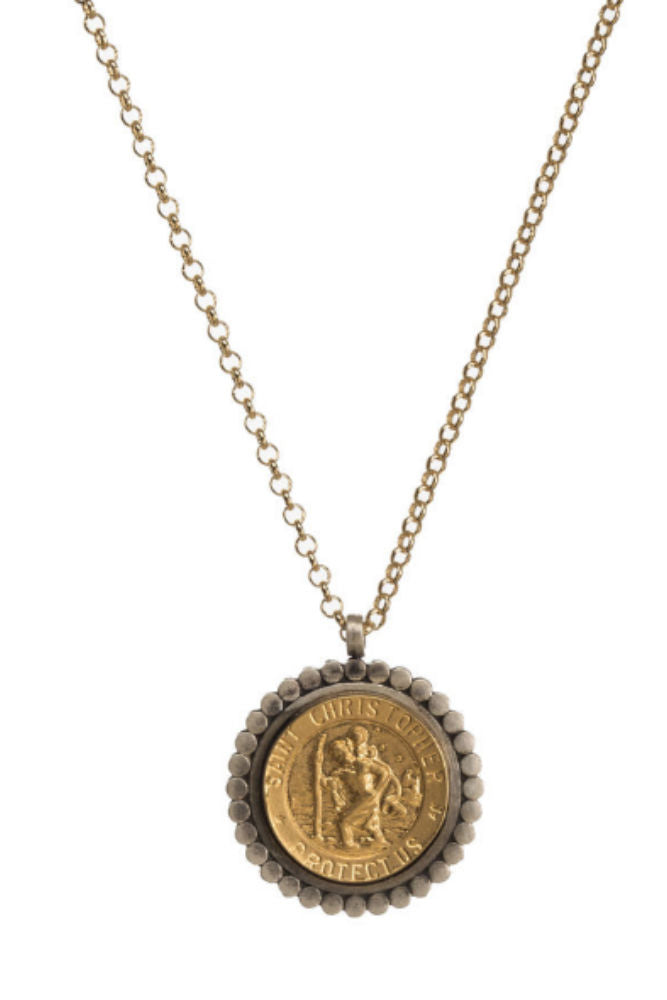 DOGEARED Saint Christopher - Bon Voyage Necklace