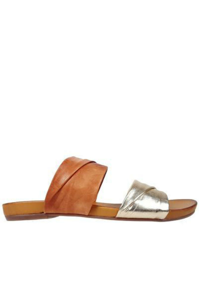 Rebels Scout Slide in Tan/Gold