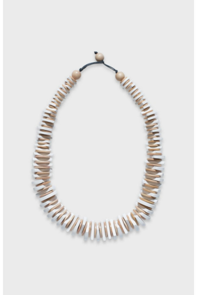 Elk Cog Short Necklace White/Blonde