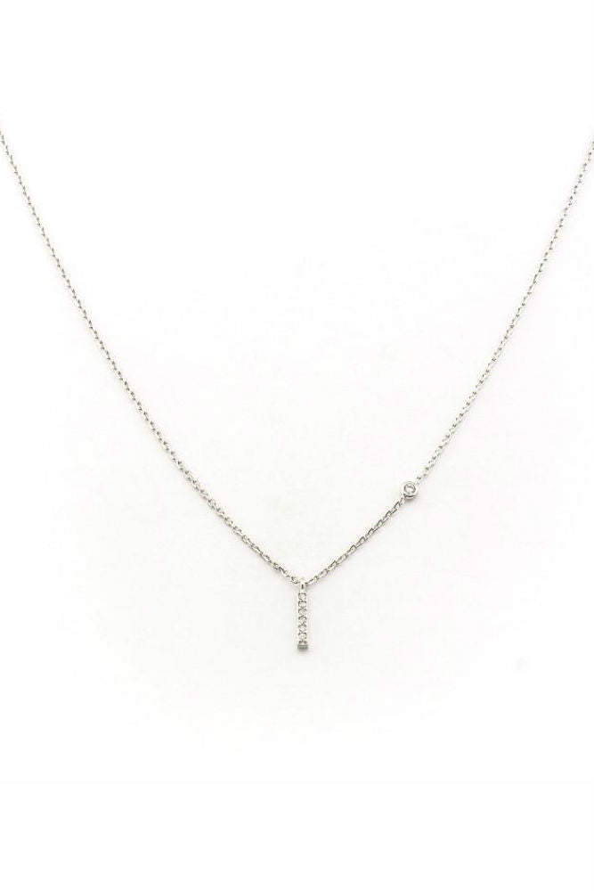 TAI Simple Chain Necklace w/Vertical Stick Charm