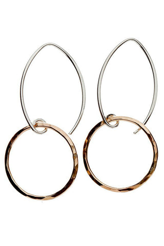 Betsy & Iya Koa Hoop Earrings - Large