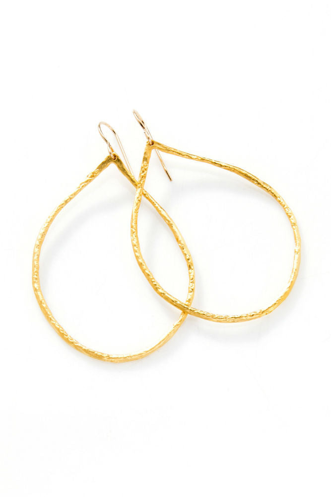 Joy Dravecky Small Perfect Hoop Gold
