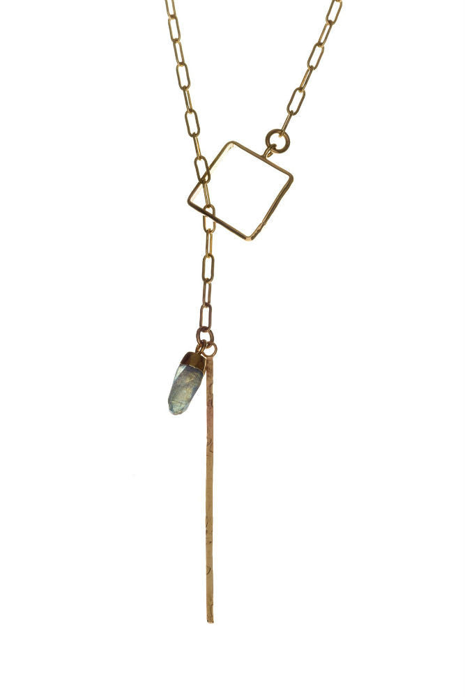 Kenda Kist Square Lariat Necklace