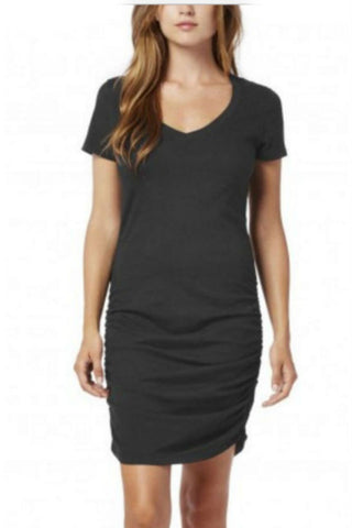 Michael Stars 3/4 Sleeve Drape Neck Top in Black