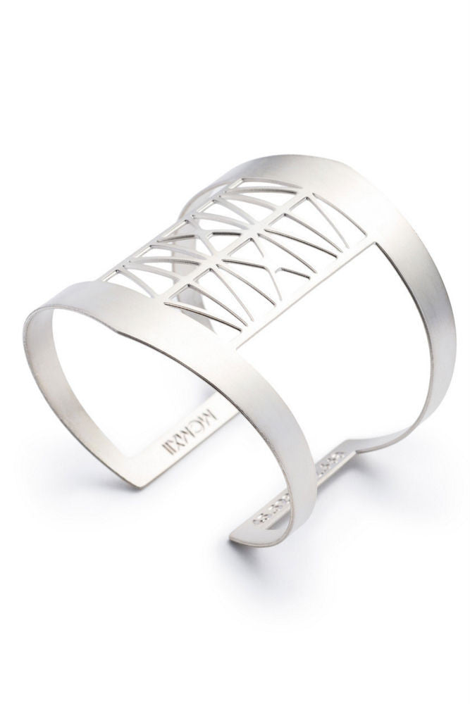 Betsy & Iya Steel Bridge Cuff in Silver