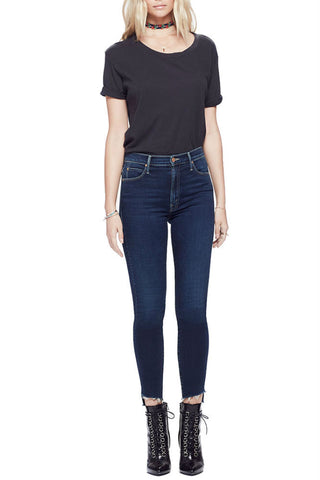 Kut from the Kloth Brigitte Faux-Leather Ankle Skinny in Black
