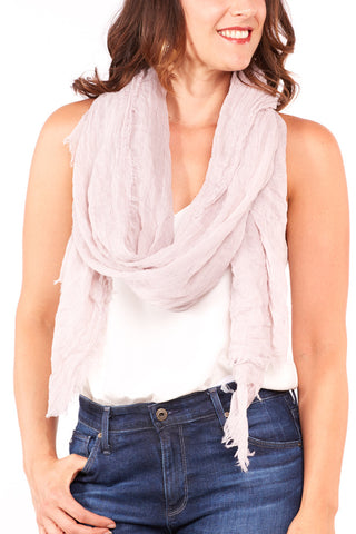 Leto Accessories Chunky Braided Infinity Scarf in Ivory