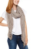 Subtle Luxury Four Way Fray Modal Scarf Mocha