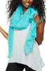 Subtle Luxury Four Way Fray Modal Scarf Turquoise